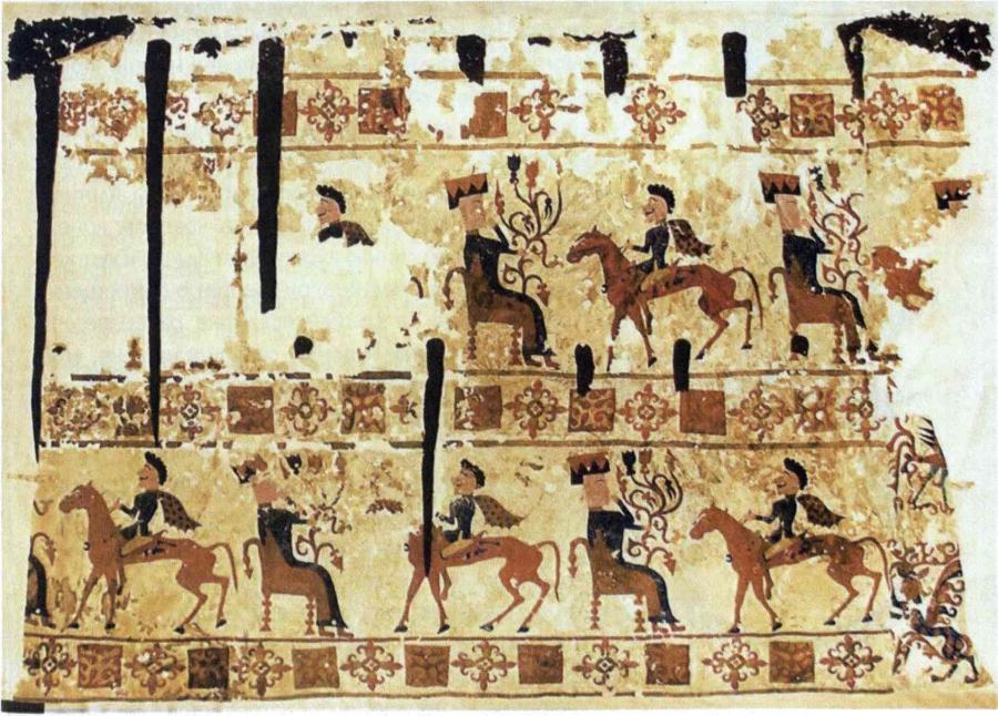 Сюжетная композиция богиня Умай и бог Тенгри, связанная со свадебным обрядом