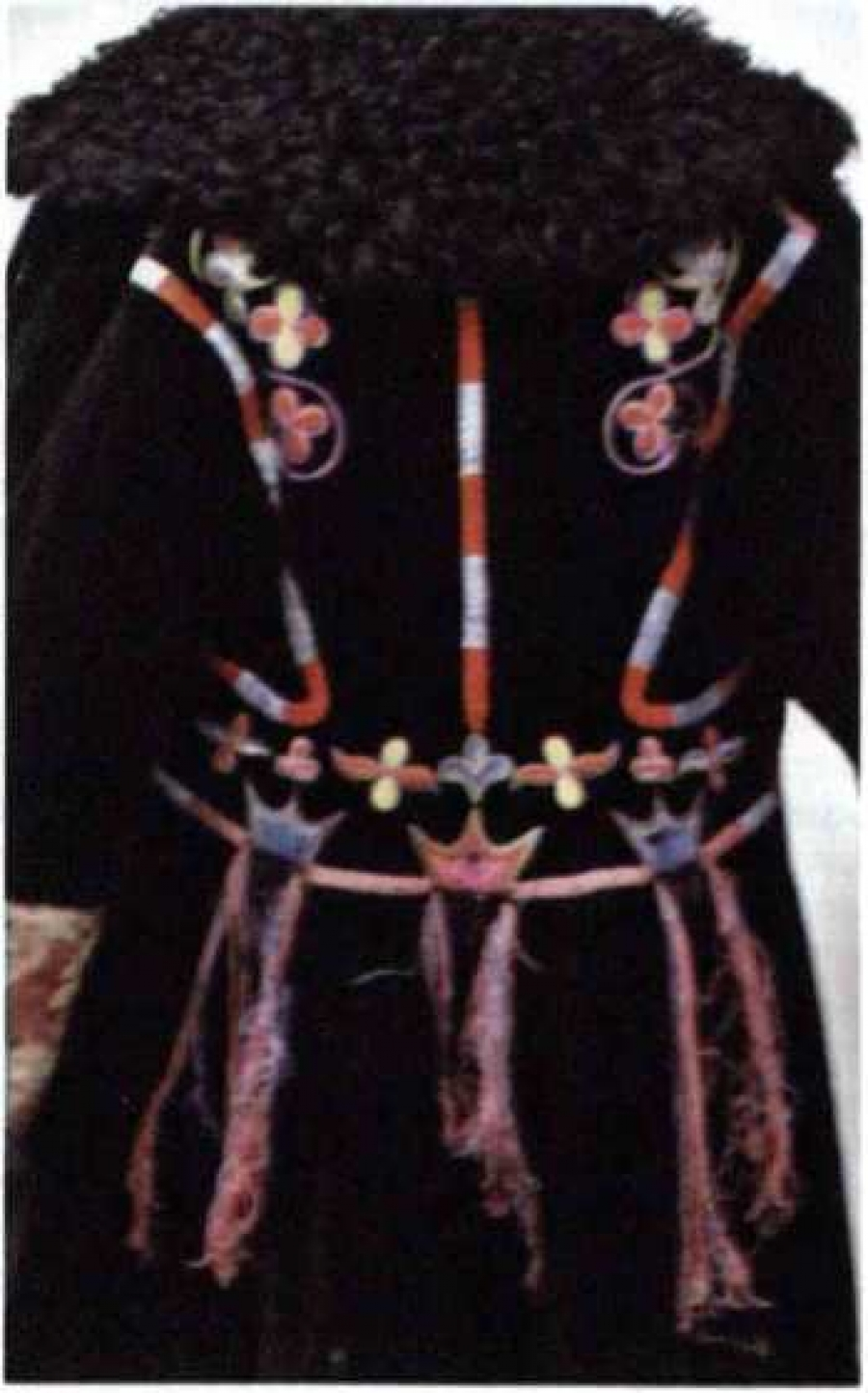 Вышивка на женских праздничных шубах качинцев - М. П. Чебодаева