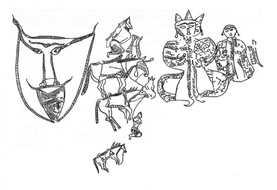Сюжетная композиция богиня Умай и бог Тенгри, связанная с погребальным обрядом