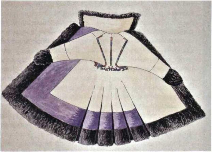Вышивка на праздничных женских шубах «ах тон» - М. П. Чебодаева