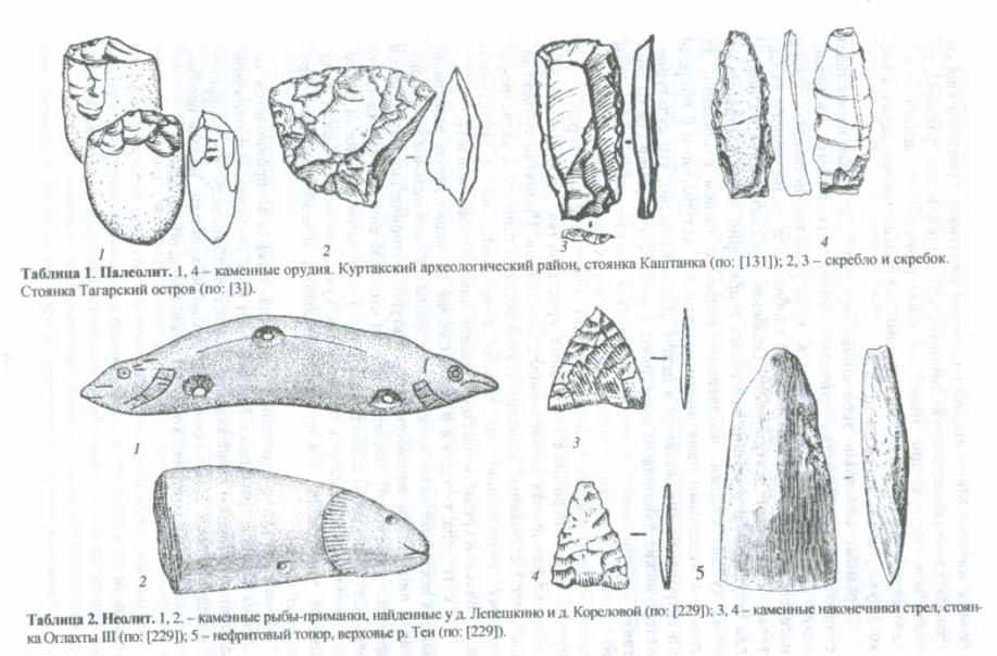 Каменный век - Хакасия - Хакасско-Минусинская котловина